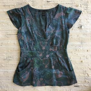 Marc Jacobs Silk Pocket Top